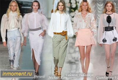 Модные Блузки Весна 2015