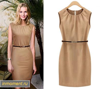 Модные офисные платья сезон весна-лето Деловые платья для женщин