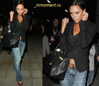 """Классика стиля  """"casual """" от Виктории Бэкхем: модные джинсы, минимум..."""