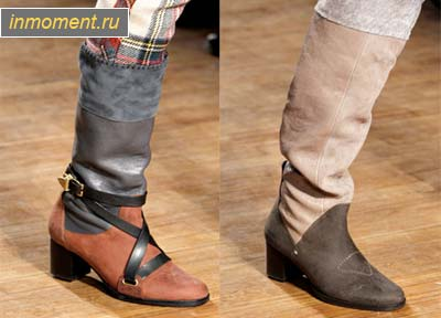 Метки. мода зима 2011. мода зима 2012. ботильоны. ковбойская обувь.