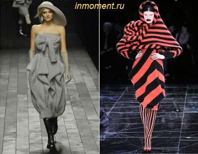 Модные вязаные платья 2010 -2011