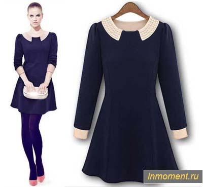 Зимние черные платья
