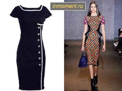 Выбираем идеальное платье-футляр - осень - зима 2015/2016