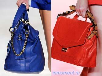 женские сумки весна 2010: цвета, клатчи
