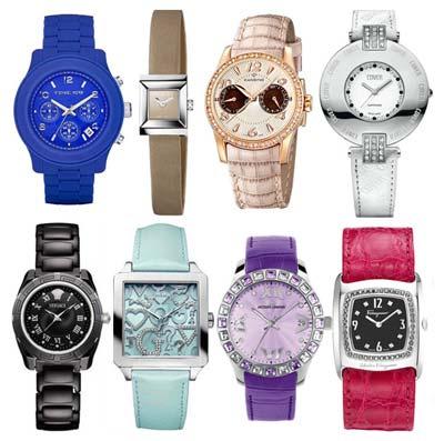 Женские часы | На фото: Модные материалы