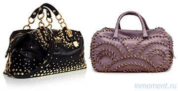 Модные сумки сезона осень-зима 2009-2010: Отделка сумки.