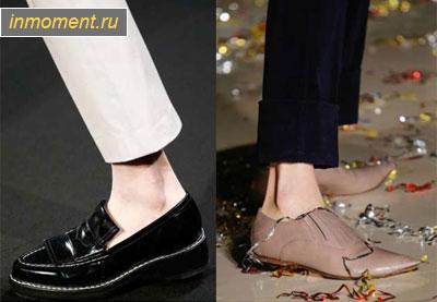 Туфли на низком каблуке 2015