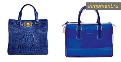 Модные синие сумки лето 2011.  На модных подиумах, посвященных...