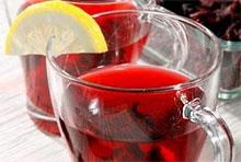 Национальный египетский напиток каркаде делают из цветов суданской Чай в...