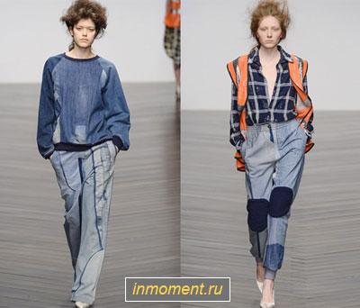 Модная джинсовая одежда зима 2014/2015