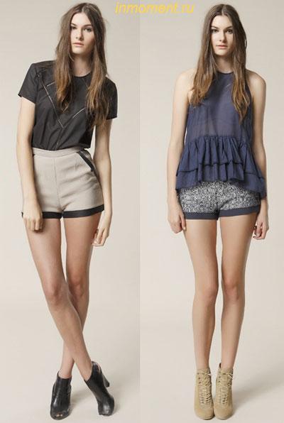 Короткие шорты под платье