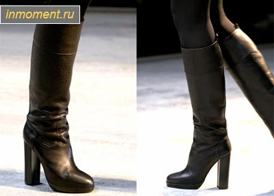 Hermès. кожаные сапоги.