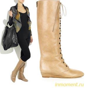 057f30d1c Как выбрать обувь: Зимние сапоги из замши с каблуком - Всё про обувь