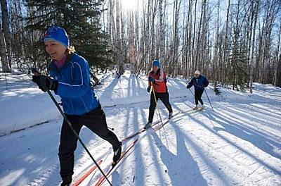 От лыж похудеть