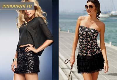 бархатная прямая юбка