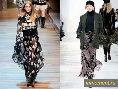 Модные юбки осень-зима мода осень 2011 - 2012 от D&G - тенденции.