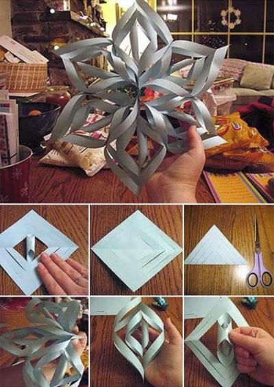 Поделки из бумаги на новый год легкие и красивые