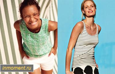 Модные топы, майки и футболки лето 2014