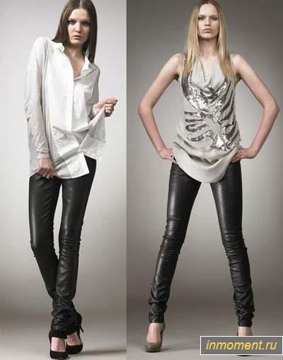 Кожаные женские брюки 2012: с чем.  Кожаные брюки для женщин не...