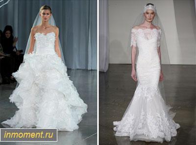Престижные свадебные платьица осень 2013