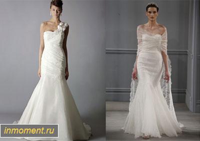 Варианты свадебного платья русалочка