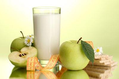 Разгрузочный день на ряженке и яблоках