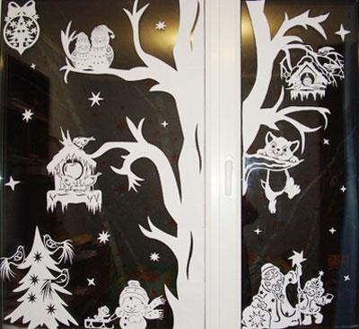 Новогодние украшения на окна своими руками фото 956