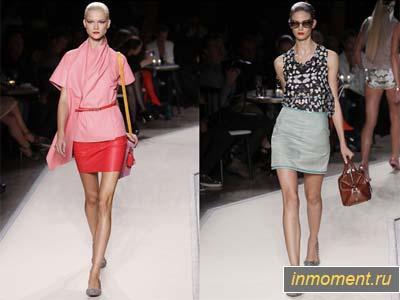 модные юбки лето 2011 прямые бизнес стиль цветные и вязаные юбки
