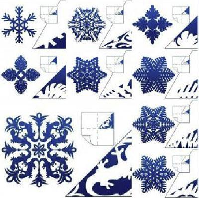 Узоры из снежинок своими руками