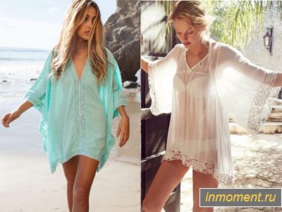 666a7f4b7e4 Пляжная мода 2015  модные пляжные туники