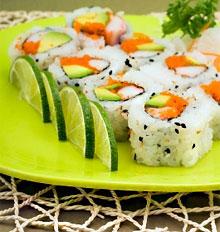 вегетарианские суши и роллы рецепты